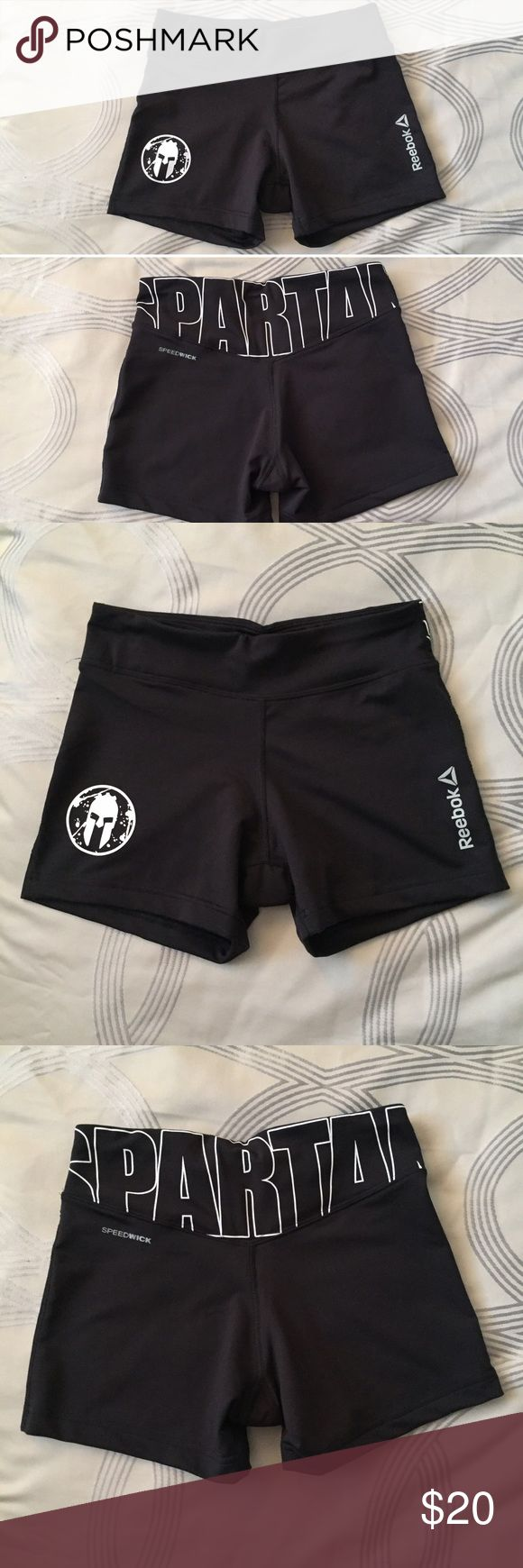 Reebok Spartan Race Shorts Perfect, like-new condition! Only worn once to yoga and washed. Purchased from a Spartan Race gear tent. AROO! Reebok Shorts
