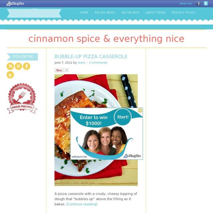 Cinnamon Spice & Everything Nice  The website 'cinnamonspiceandeverythingnice.com/' courtesy of Pinstamatic (http://pinstamatic.com)