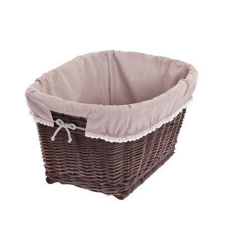 Wäschekörbe - Wäschekorb aus Weide, Puff, retro Wäschekorb - ein Designerstück von e-wicker24 bei DaWanda
