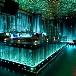 A nightclub with antique mirrors, marble bars, honeycombed walls, opulent restrooms and a 20,000 lit crystal chandelier?