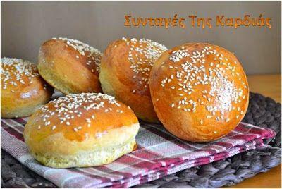 ΣΥΝΤΑΓΕΣ ΤΗΣ ΚΑΡΔΙΑΣ: Ψωμάκια για burgers