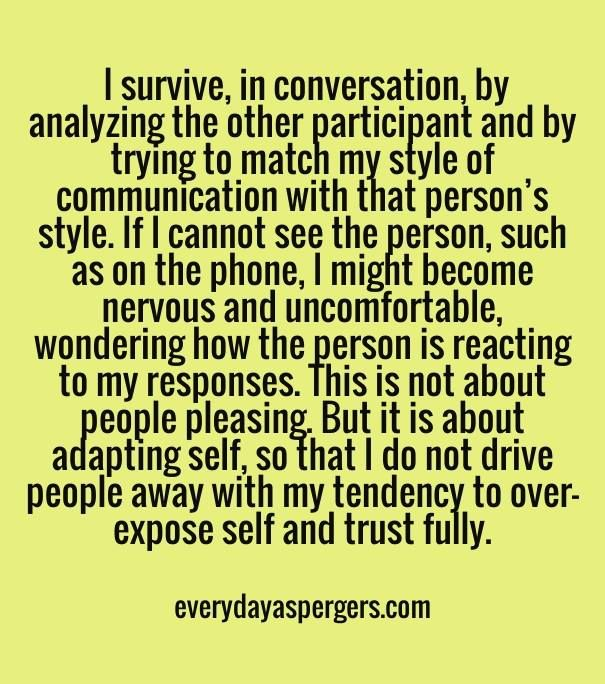 Communication Styles ;  source: Everyday Aspergers