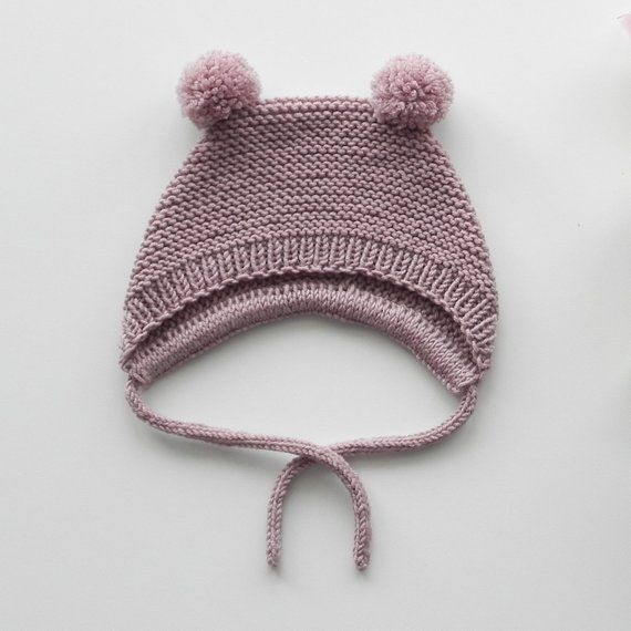 Handmade Crochet 100/% Merino Baby Shower Vintage Bonnet Hat Beanie Photo Prop