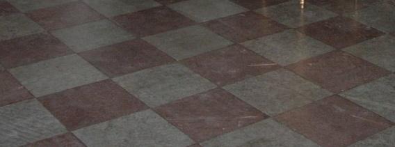 kalkstensgolv röd/grå hyvlad kalksten 30x30cm