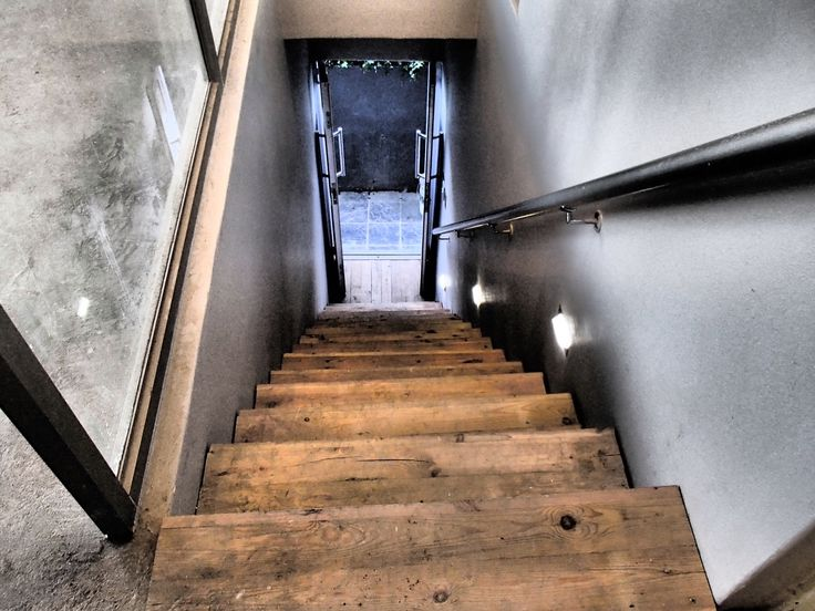 Rustic Stairwell by Carter Construction