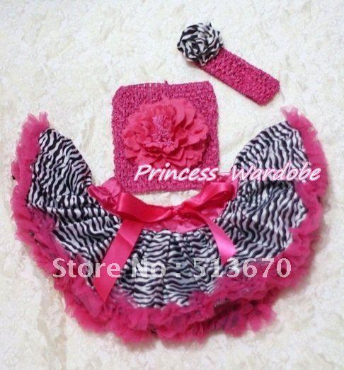 >> Click to Buy << Hot Pink Zebra Baby Pettiskirt, Hot Pink Peony Hot Pink Crochet Tube Top, Hot Pink Headband Zebra Rose 3PC Set MACT128 #Affiliate