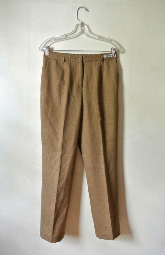 Vintage Pants • Sandy Brown Slacks • Pendleton • Size 4 by awildtonic, $38.00