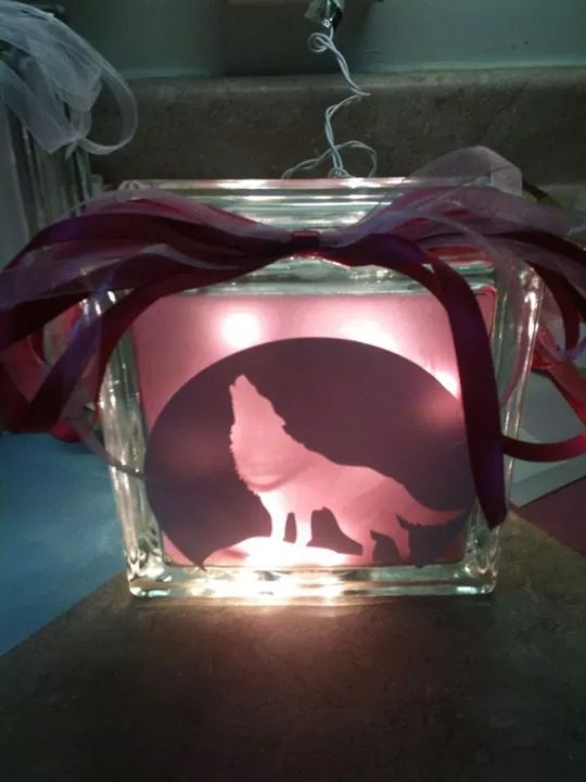 glass block lighting. wolf lighted glass block check out my custom made blocks at etsy lighting