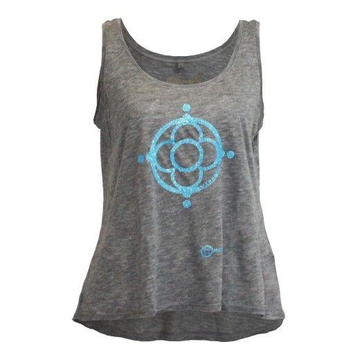 Logo t-shirt-Maraboo grey blue tencel $64.90€