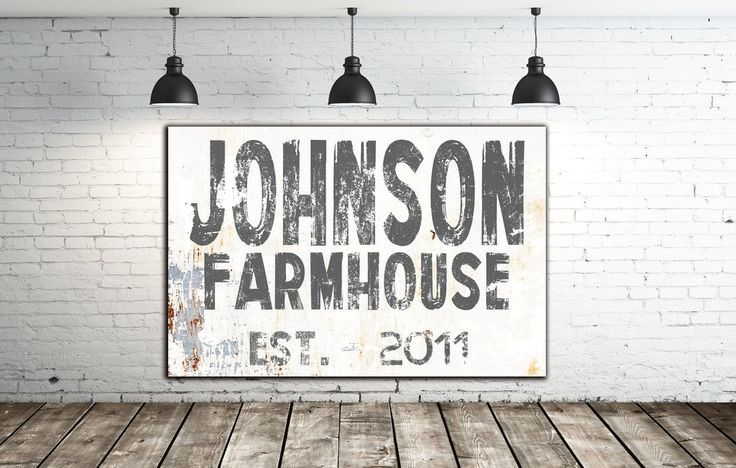 Family Name Sign - Wall Decor - Modern Farmhouse Sign
