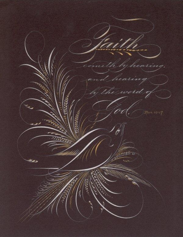Romans 10 17 Faith By John Decollibus Kalligrafi