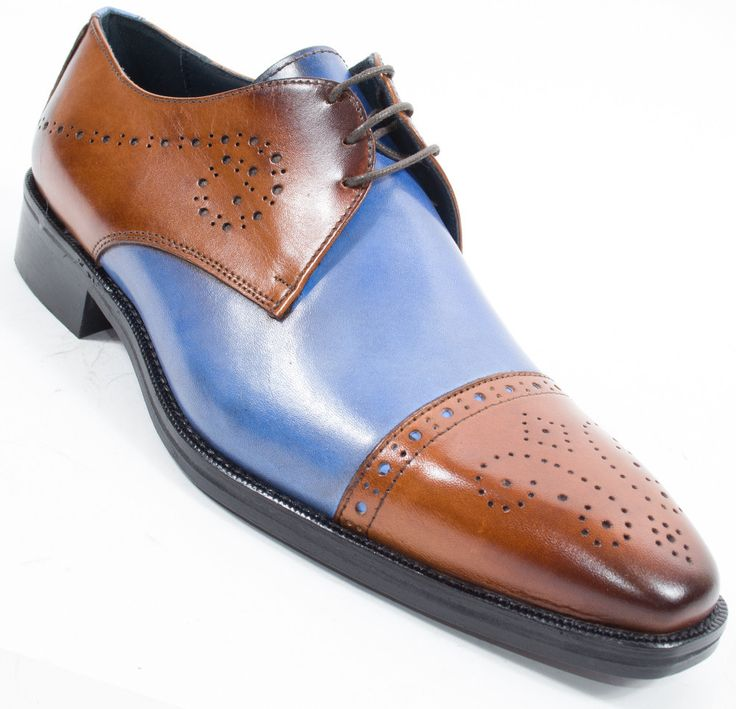 """Duca di Matiste 1703 genuine leather lace up dress shoe """"Made in Italy"""". This shoe has a beautiful genuine leather upper and sole along with a fully cushioned interior for extra added comfort."""