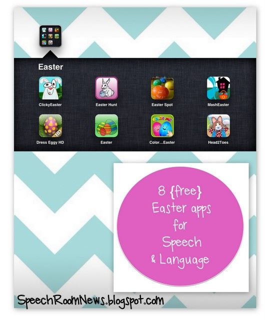 8 Free/Cheap Easter Apps for Speech & Language #iPaded #edtech