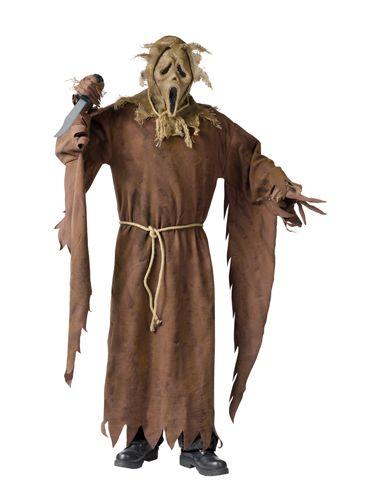 scream ghost face scarecrow adult costume  halloween