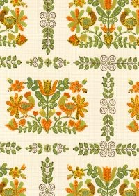 Kaakelikukot wallpaper from Tapettitalo. Keittiöön?