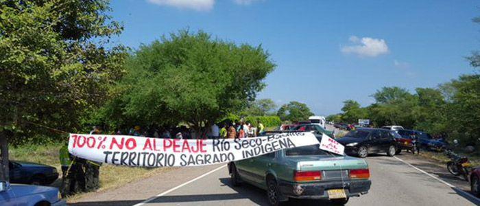 Río Seco volvió a protestar contra el peaje