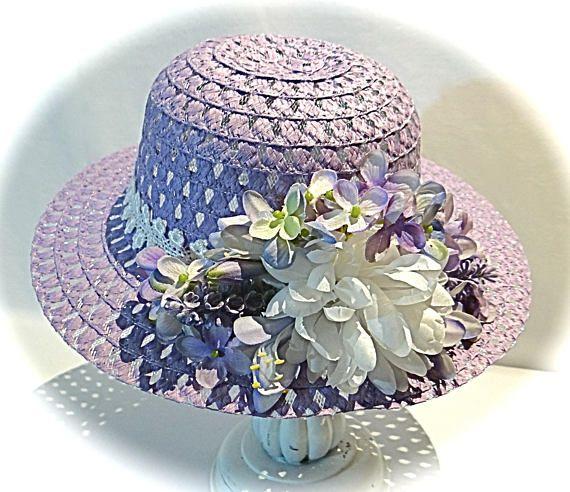 Girl s Easter Bonnet Sun Hats Tea Party Hat Flower Girl  e7edcb9532f0