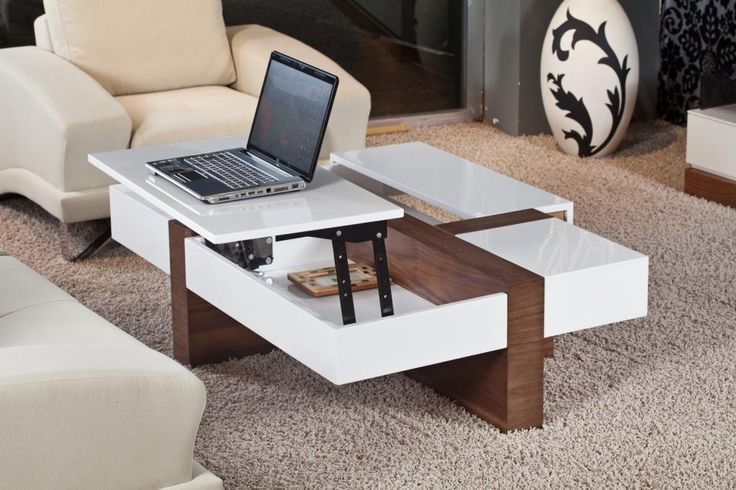 Best Stunning White Wooden Lift Top Elegant Coffee Table Ideas 400 x 300