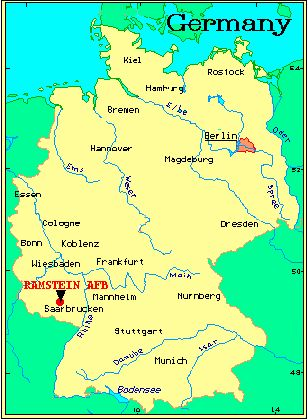 map of germany featuring ramstein