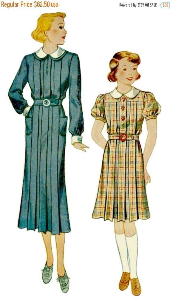 ON SALE 1930's School Uniform Pattern  SIMPLICITY 1939