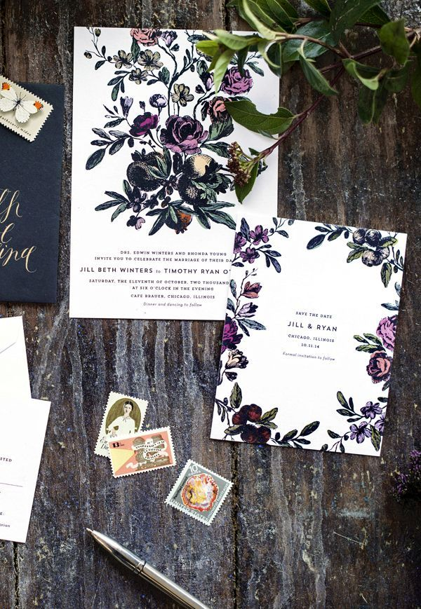 cool floral wedding invitations best photos