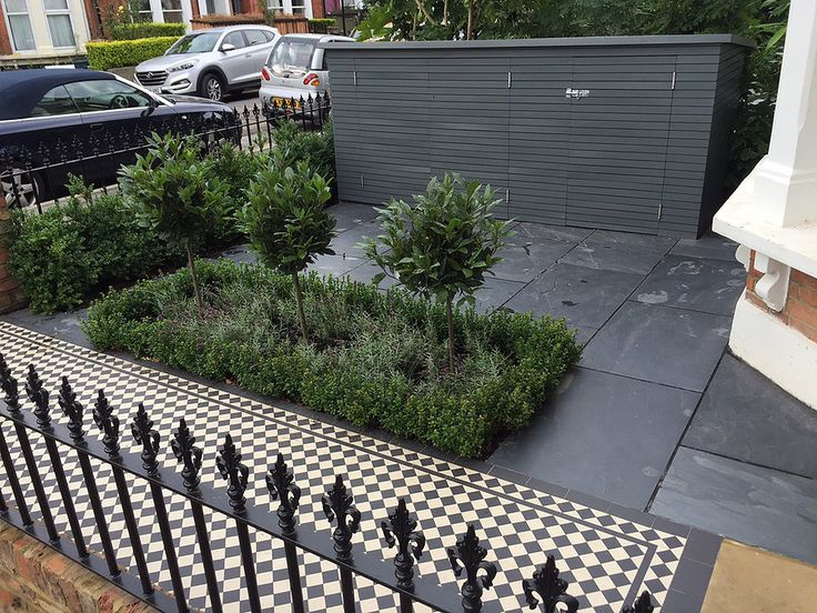 london formal front garden design