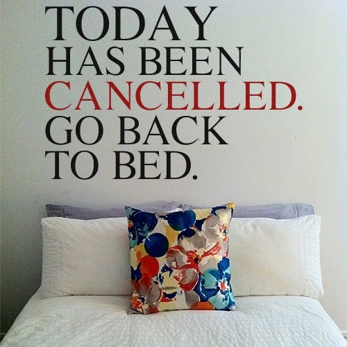 Wall Sticker BACK TO BED by Sticky!!!