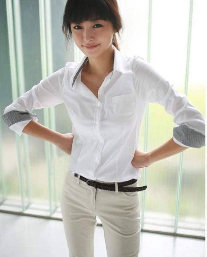 Rushed Special Offer Tropical Blouse Sexy Office Lady Women Work Wear Slim Clothing Turn-down Collar Sheer Shirts Plus Size #C0