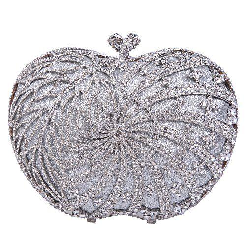 Fawziya® Bling Apple Shape Evening Bag With Rhinestones Crystal Clutch Bag-Silver Fawziya http://www.amazon.com/dp/B00LUMV6F0/ref=cm_sw_r_pi_dp_K5Q7wb0KZQ4FE