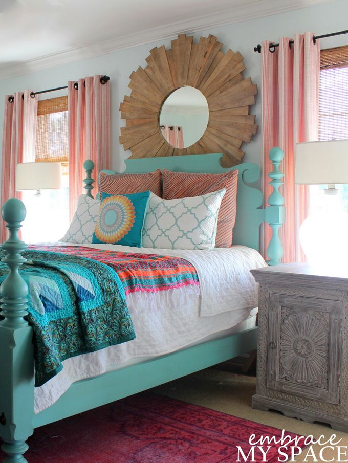 17 Best ideas about Bright Colored Bedrooms – Colorful Master Bedroom