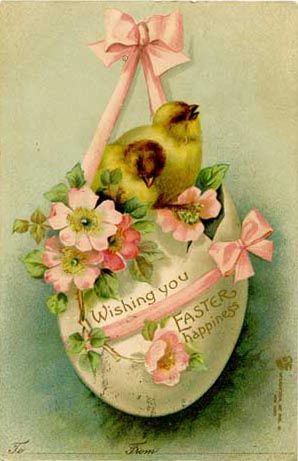 vintage Easter card holiday printable DIY craft ephemera