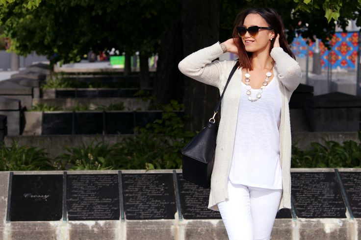 Outfit | Whiteout The Style Reef Wearing Cotton On Cardi / Cotton White Tank / White Denim Jeans Just Jeans / Colette bag