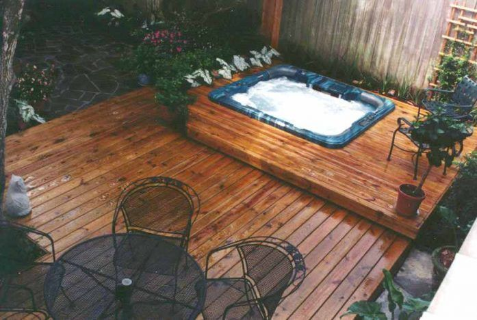 Hot Tub Built Into Deck Designs With Tubs Pictures