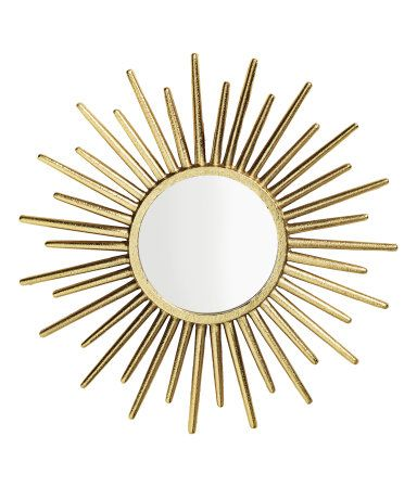 Round Mirror | Gold-colored | Home | H&M US