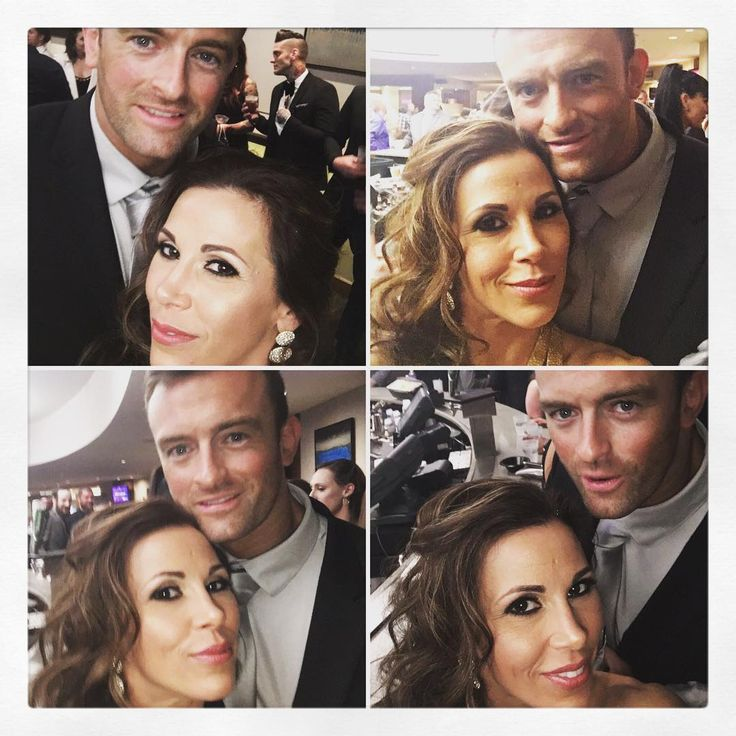 WWE Superstar Mickie James and her husband Nick Aldis (Magnus) at the 2017 WWE Hall of Fame ceremony #WWE #WWEHOF #WrestleMania #wwecouples