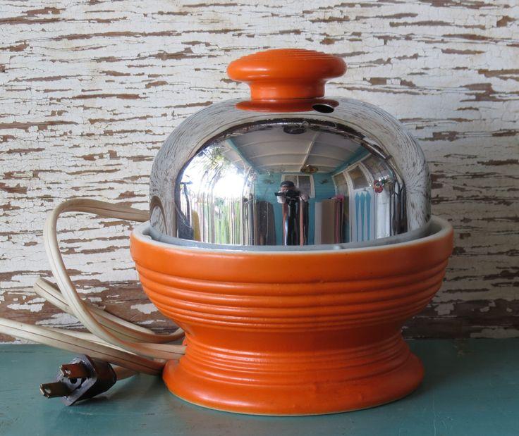 Hankscraft Egg Cooker Orange Fiestaware Go Along Homer Laughlin 1930s Vintage. $59.00, via Etsy.