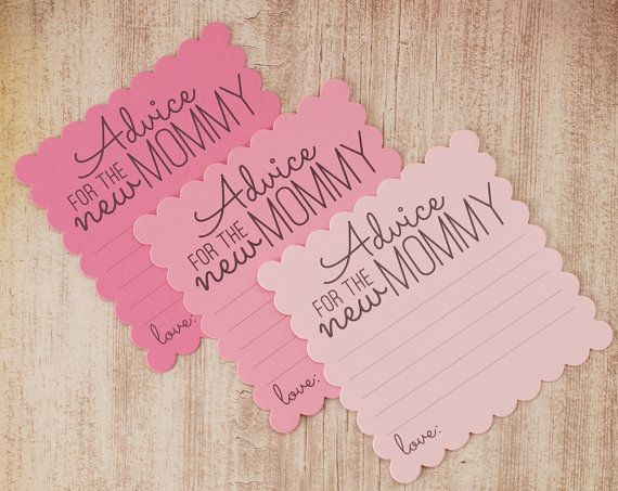 Advice for the New Mommy Baby Shower Advice Cards by decocards