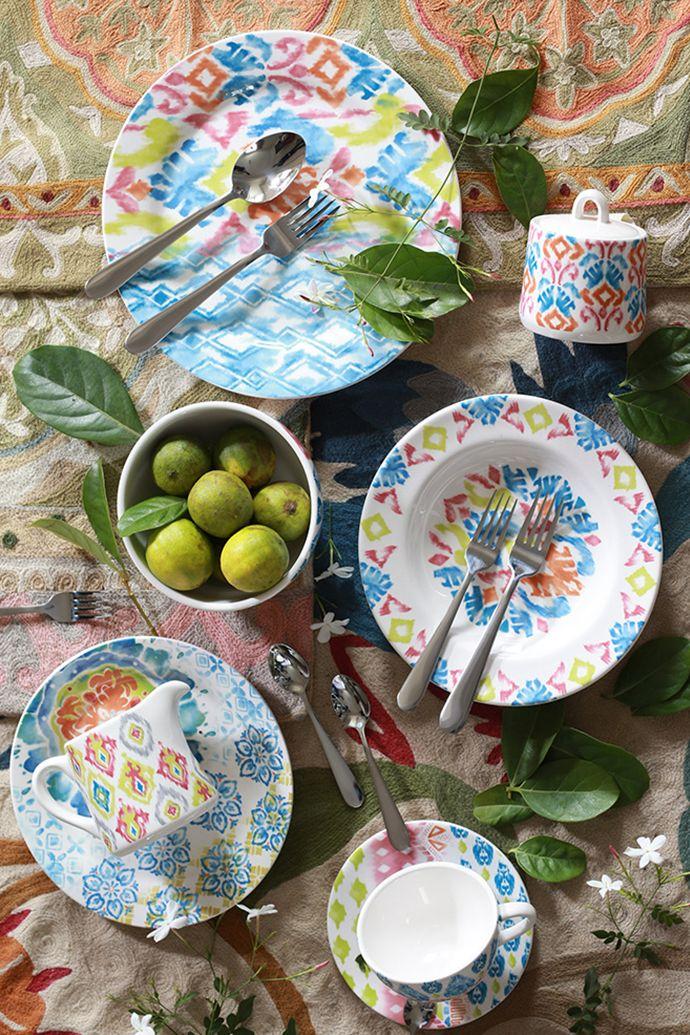 Refresca tu #mesa haciendo pequeños cambios en el #menaje. ¿Te animas? #Platos #Loza #Vajilla #Colores #Garden