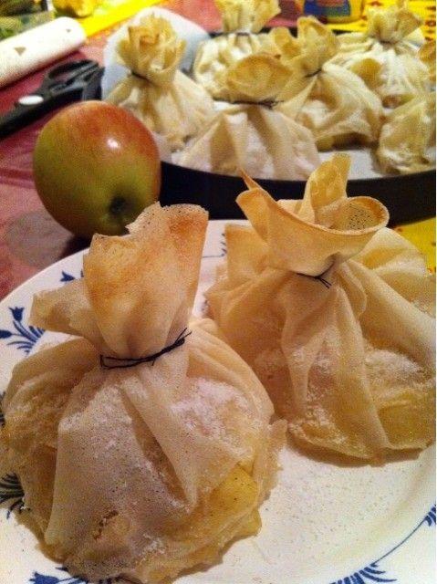 Aumônière de pommes et cannelle