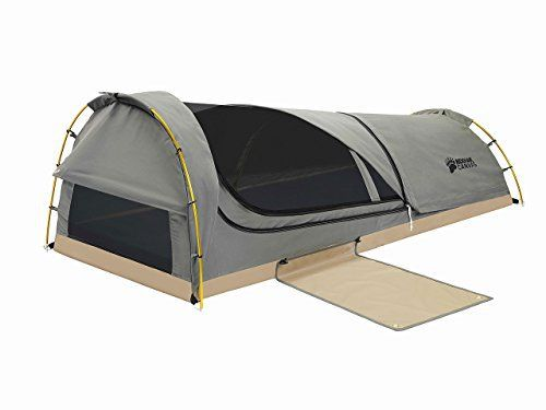 Kodiak Canvas 1-Person Canvas Swag #Tent with #Sleeping #Pad Olive, One Size  Full review at: http://toptenmusthave.com/best-bivy-bags/