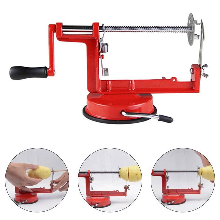 Manual Stainless Steel Veg Fruit Potato Spiral Twisted  Slicer French Fry Cutter