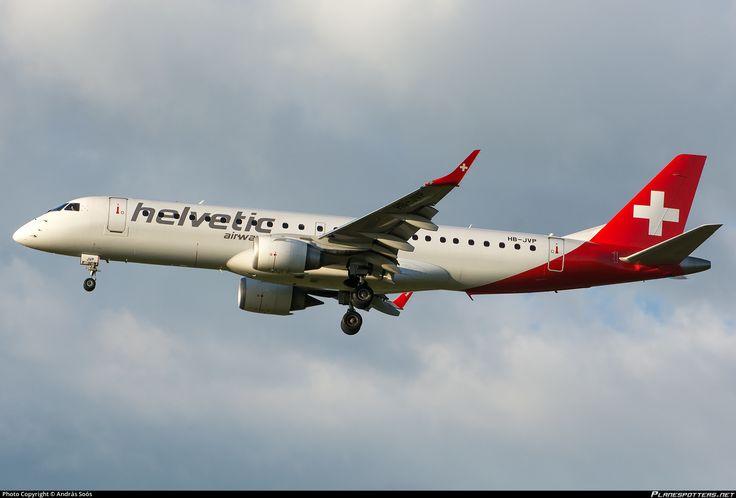 HB-JVP Helvetic Airways Embraer ERJ-190LR (ERJ-190-100 LR)