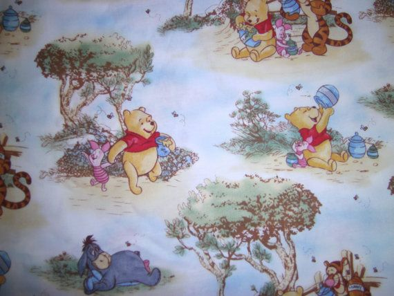 1 Yard Scenic Winnie The Pooh Fabric To Sew By Quiltgirls