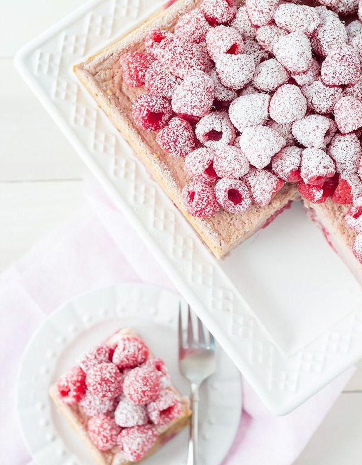 Gâteau magique aux framboises