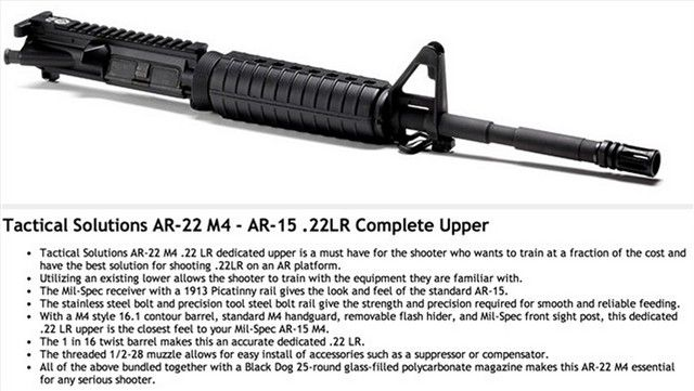 22lr AR-15 AR15 Complete Upper NIB M4 Tactical 22 - http://gunsforsalebuy.com/22lr-ar-15-ar15-complete-upper-nib-m4-tactical-22.html