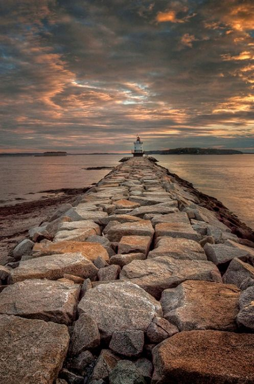 maya47000: Spring point lighthouse by Alan L. Borror