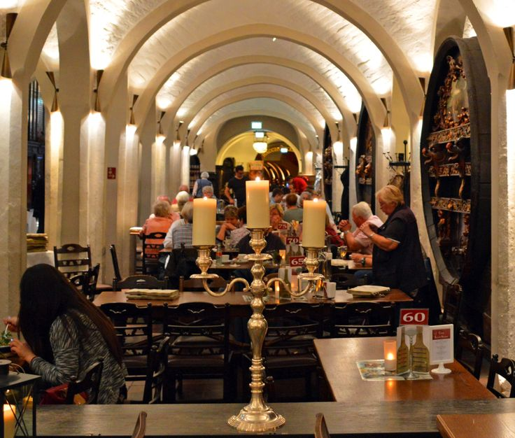 Below town hall is the Ratskeller, Germany's oldest wine cellar dating back to 1409.