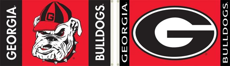 2 Sided Georgia Bulldogs Football Team Spirit 3ft By 5ft Flag With Grommets