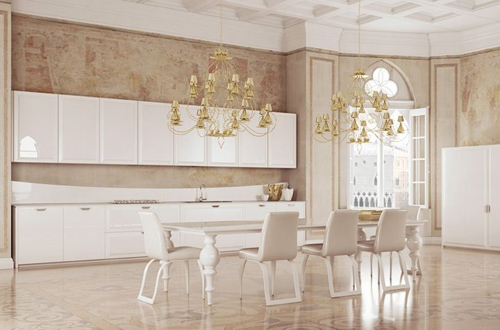 Diamond. Beautifull kitchen in avorio colore