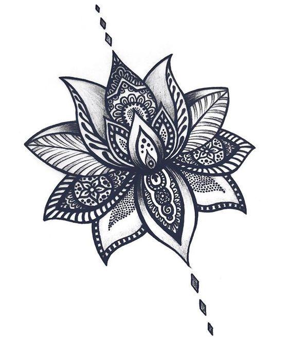"""Résultat de recherche d'images pour """"zentangle fleur de lotus"""""""